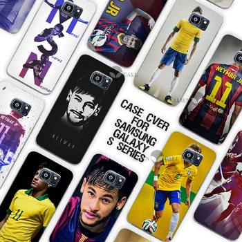 Горячие Продажи Neymar JR Clear Case Cover Coque Shell для Samsung Galaxy S3 S4 S5 Mini S6 S7 Край Плюс