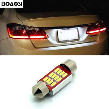 Boaosi 1x Canbus LED Купол гирлянда 4014SMD 12LED номер плиты лампа для Skoda Superb