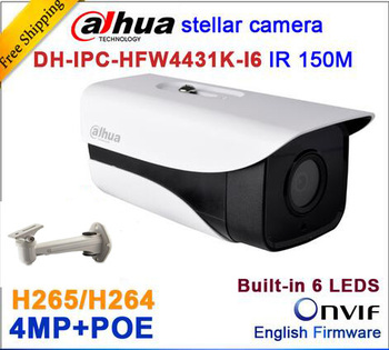 Dahua Starlight H.265 4MP DH-IPC-HFW4431K-I6 Сети Ip-камера ИК Пуля H264 ВИДЕОНАБЛЮДЕНИЯ POE H265 IPC-HFW4431K-I6 с кронштейном