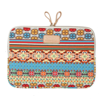 "KAYOND 14 ""Bohemian Холст Laptop Sleeve Сумка для Apple HP DELL Toshiba ASUS Acer"