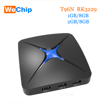 Android 5.1 T96N RK3229 quad-core 2 ГБ/8 ГБ Android Smart TV Box Встроенная антенна wifi 2.4 г media player