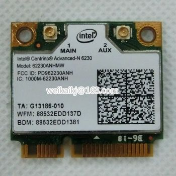 Intel 6230 62230AN HMW 62230 622ANHMW WI-FI WLAN BT Bluetooth 3.0 Половина Карты