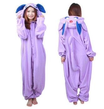 Животное Onesie Пижамы Покемон Go Pocket Monster Мастер Espeon Костюм Руно Пижамы